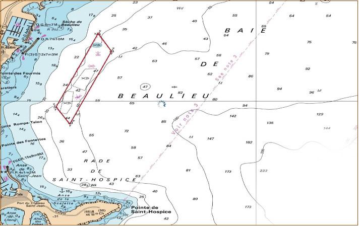 Zone maritime protegée - Secteur Beaulieu