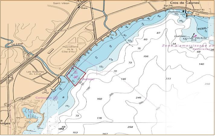 Zone maritime protegée - Secteur Cagnes