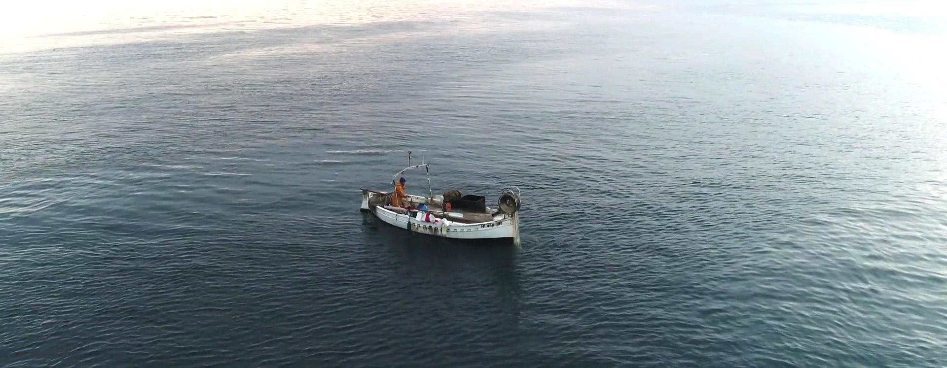 Pêcheur en mer